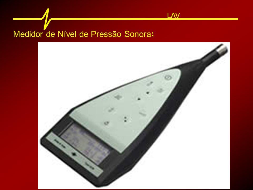 Medidor de Nível de Pressão Sonora : LAV Microfone Amplificador Filtros Integrador Mostrador