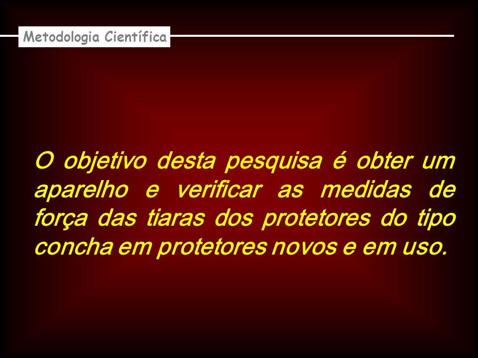 O objetivo desta pesquisa é obter um aparelho e verificar as medidas de força das tiaras dos protetores do tipo concha em protetores novos e em uso.