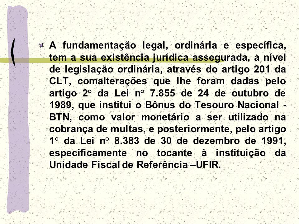 A fundamentação legal, ordinária e específica, tem a sua existência jurídica assegurada, a nível de legislação ordinária, através do artigo 201 da CLT