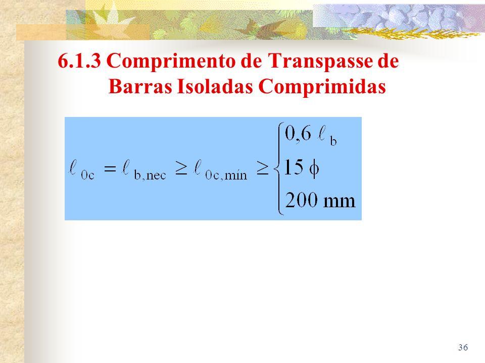 36 6.1.3 Comprimento de Transpasse de Barras Isoladas Comprimidas