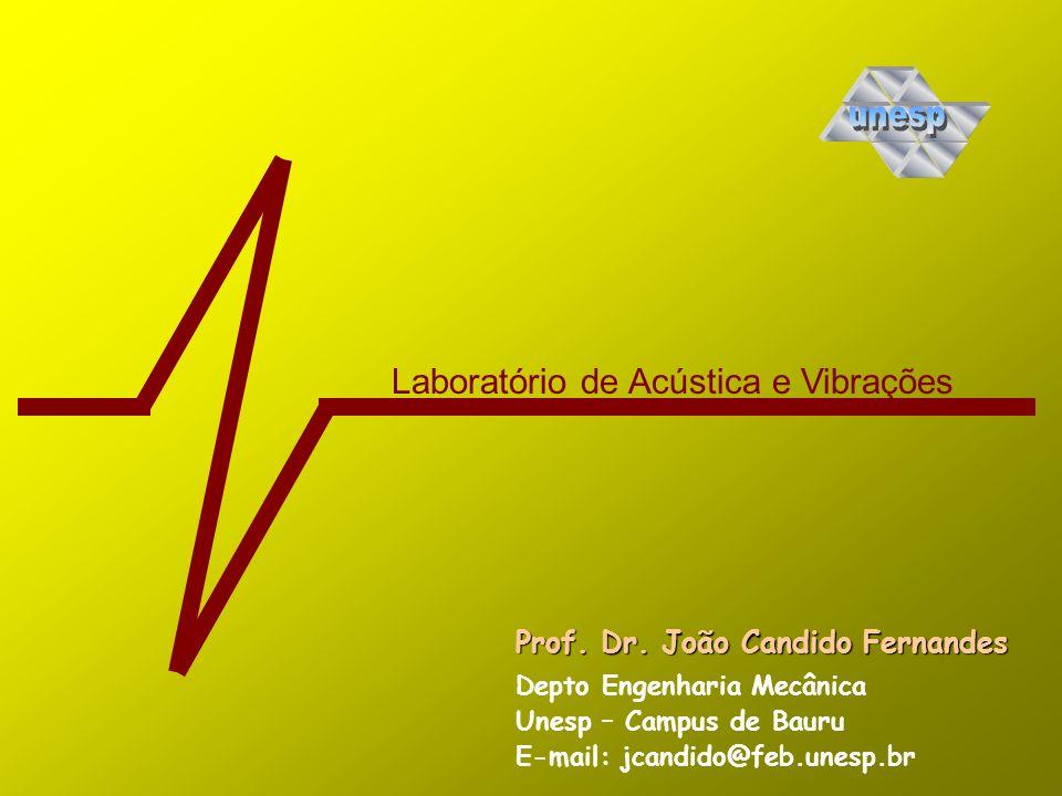 Laboratório de Acústica e Vibrações Prof. Dr. João Candido Fernandes Depto Engenharia Mecânica E-mail: jcandido@feb.unesp.br Unesp – Campus de Bauru