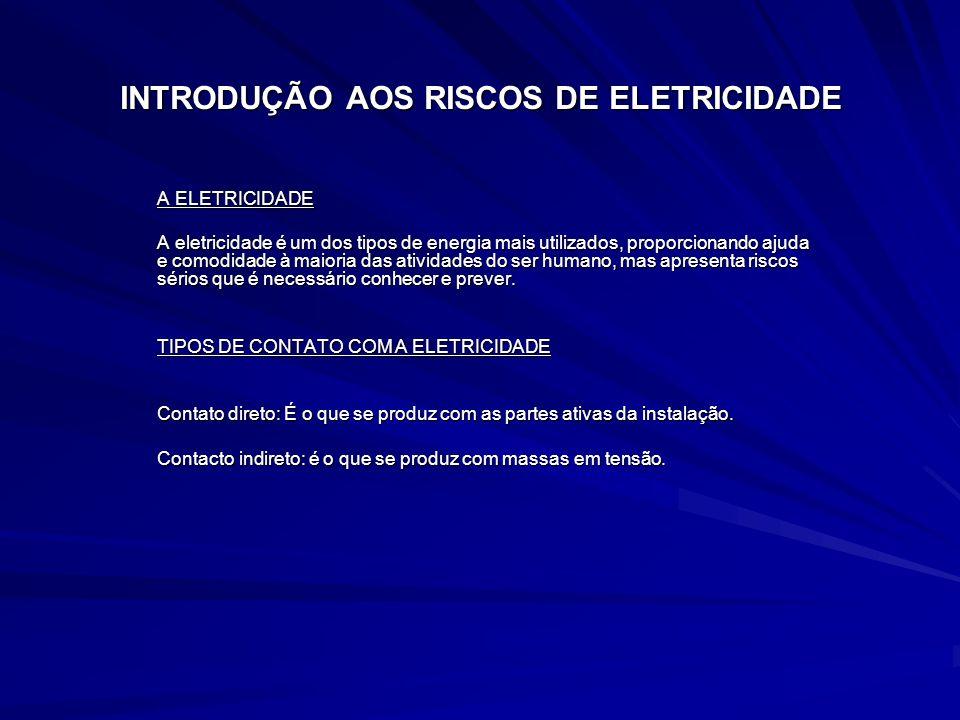 INTRODUÇÃO AOS RISCOS DE ELETRICIDADE A ELETRICIDADE A eletricidade é um dos tipos de energia mais utilizados, proporcionando ajuda e comodidade à mai