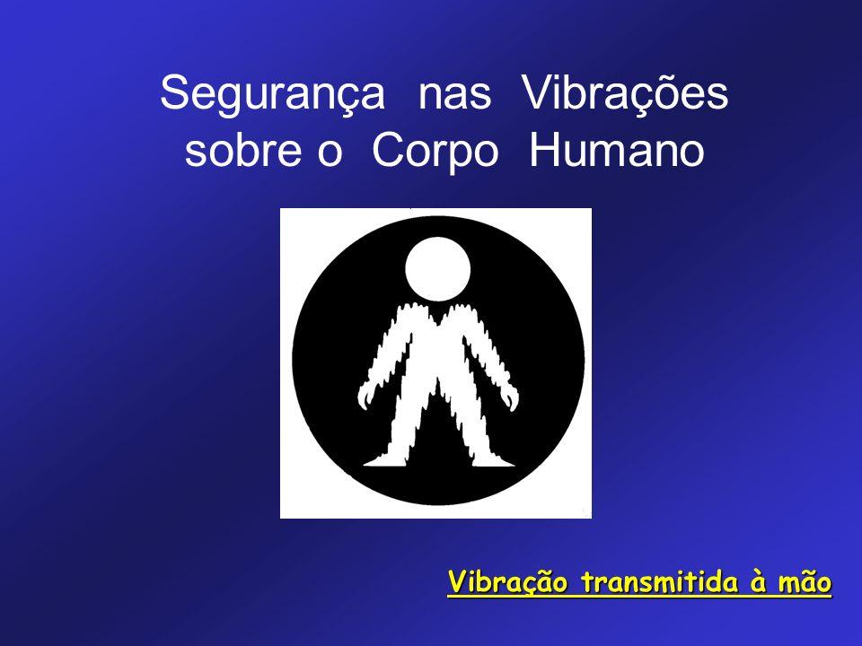Segurança nas Vibrações sobre o Corpo Humano Vibração transmitida à mão