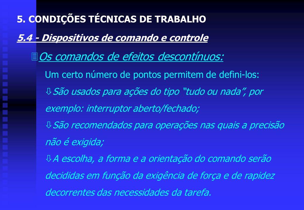 3A escolha do tipo de comando adequado é função: ò Da natureza do movimento a ser realizado: movimento contínuo, descontínuo, preciso ou de esforço; ò