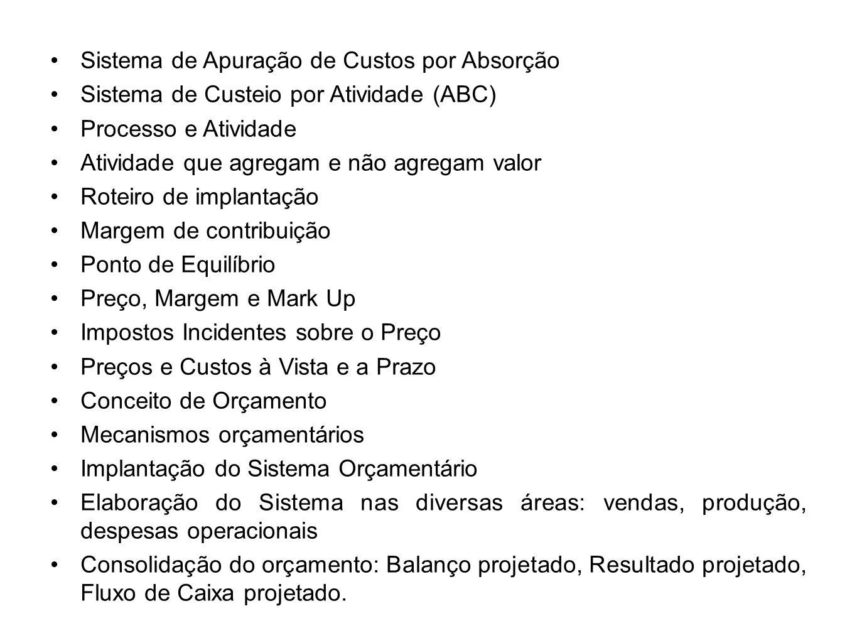 Bibliografia Contabilidade de Custos.Eliseu Martins, 10 a.