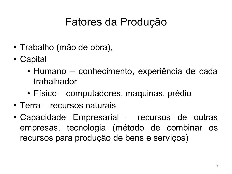 Classificação dos custos 5 Com relação aos produtos Diretos: matéria-prima, mão de obra direta (chão de fabrica), embalagens, energia elétrica.