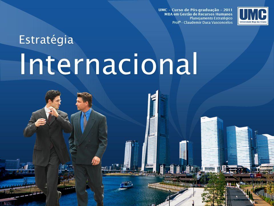 LOGO Estratégia Internacional UMC – Curso de Pós-graduação – 2011 MBA em Gestão de Recursos Humanos Planejamento Estratégico Profª - Claudemir Duca Va