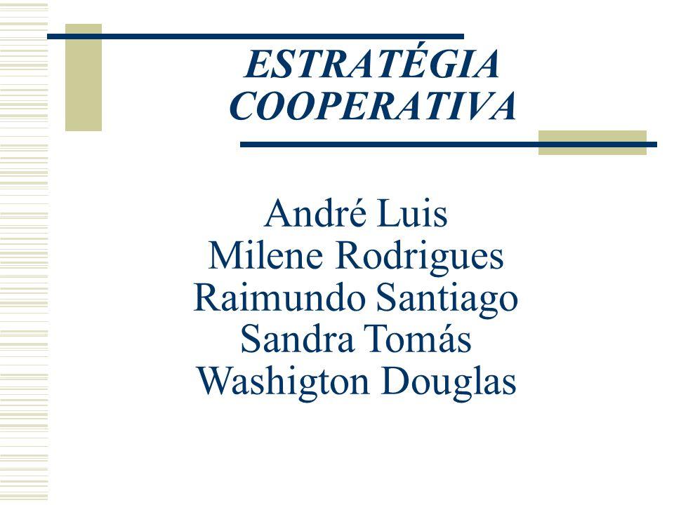 ESTRATÉGIA COOPERATIVA É uma estratégia em que as empresas trabalham em conjunto para alcançar um objetivo em comum