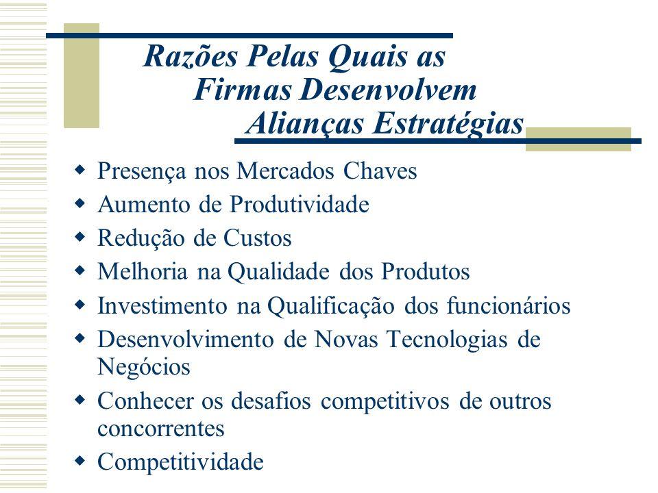 Presença nos Mercados Chaves Aumento de Produtividade Redução de Custos Melhoria na Qualidade dos Produtos Investimento na Qualificação dos funcionári
