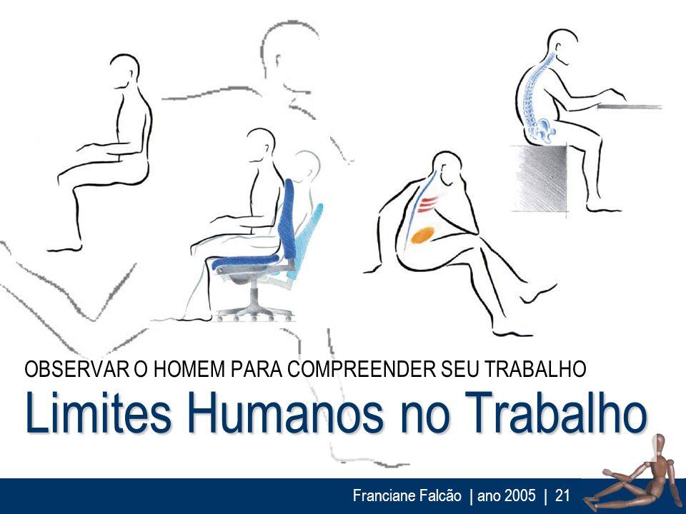 Franciane Falcão   ano 2005  21 Limites Humanos no Trabalho OBSERVAR O HOMEM PARA COMPREENDER SEU TRABALHO