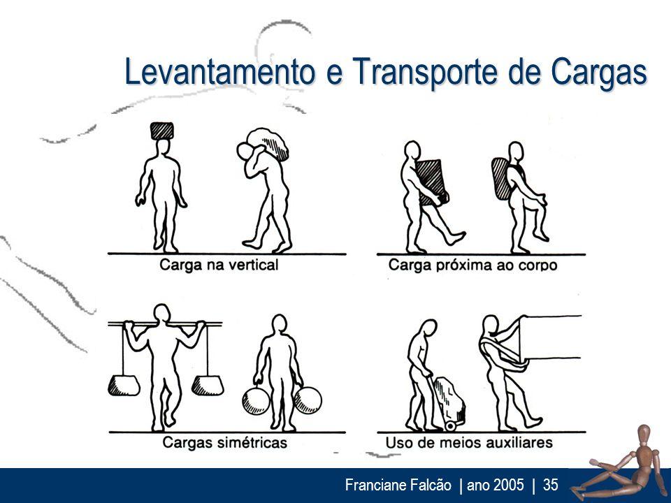 Franciane Falcão   ano 2005  35 Levantamento e Transporte de Cargas