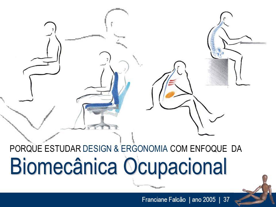 Franciane Falcão   ano 2005  37 Biomecânica Ocupacional PORQUE ESTUDAR DESIGN & ERGONOMIA COM ENFOQUE DA