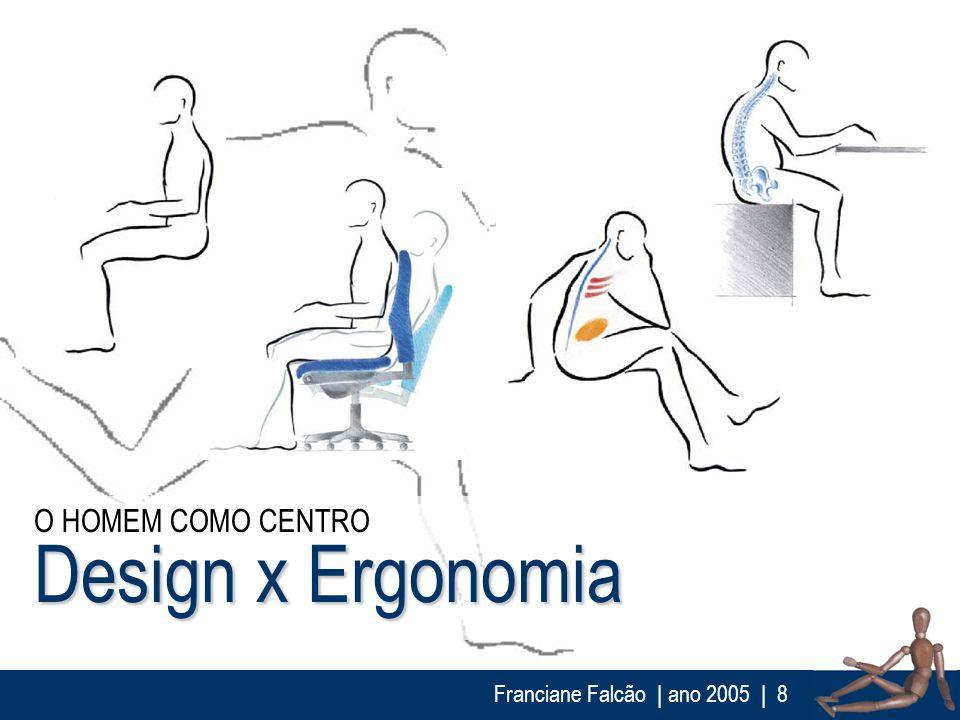 Franciane Falcão   ano 2005  8 Design x Ergonomia O HOMEM COMO CENTRO