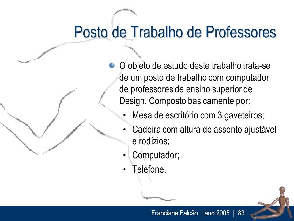 Franciane Falcão   ano 2005  83 Posto de Trabalho de Professores O objeto de estudo deste trabalho trata-se de um posto de trabalho com computador de