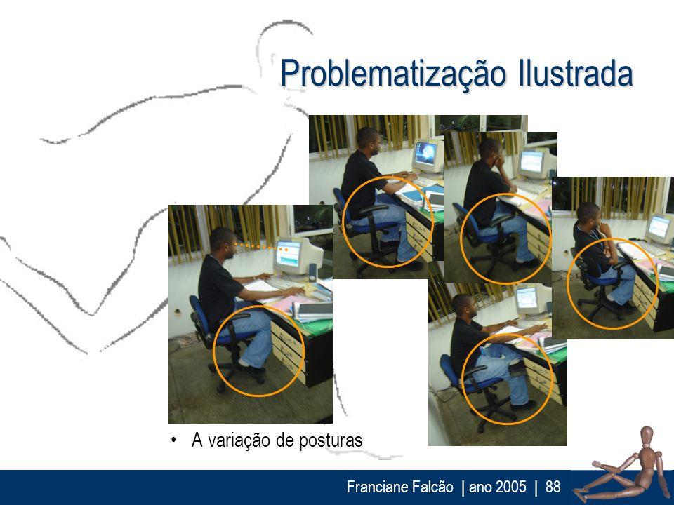 Franciane Falcão   ano 2005  88 Problematização Ilustrada A variação de posturas