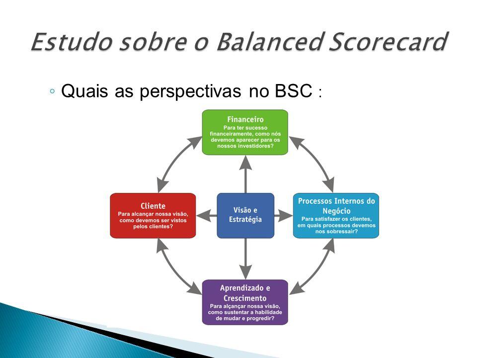 Quais as perspectivas no BSC :