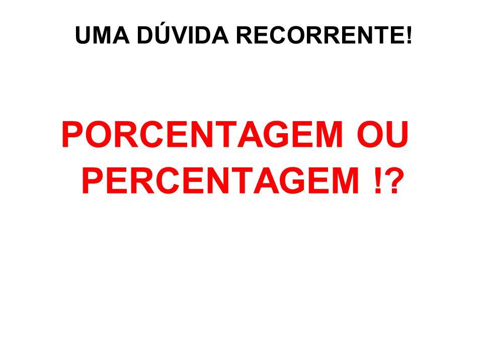 É opcional dizer percentagem (do latim per centum) ou porcentagem (em razão da locução por cento ).