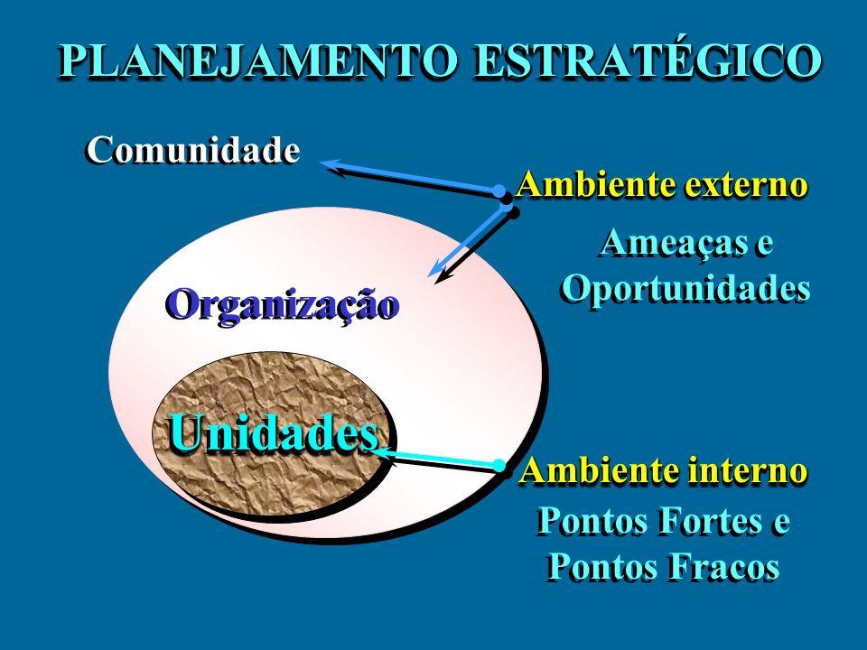 PEI - Análise Ambiental Diagnóstico Ambiente AmbienteInterno Ambiente Externo Comunidade Governo outros Mercado Ambiente Externo í Ameaças í Oportunidades Ambiente Interno ê Pontos Fortes - Forças propulsoras ê Pontos Fracos - Forças restritivas