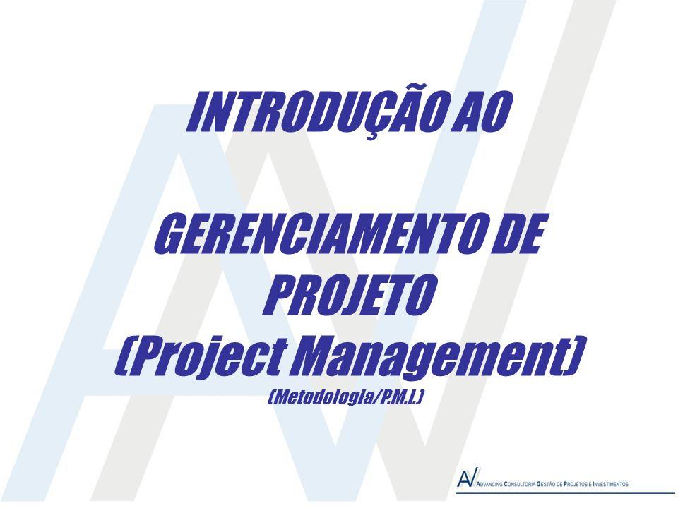 INTRODUÇÃO AO GERENCIAMENTO DE PROJETO (Project Management) (Metodologia/P.M.I.)