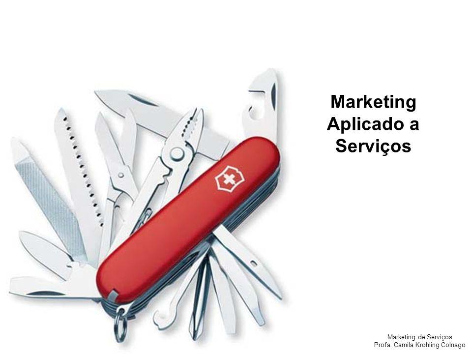 Marketing de Serviços Profa.Camila Krohling Colnago OS 4 Ps DOS SERVIÇOS:.