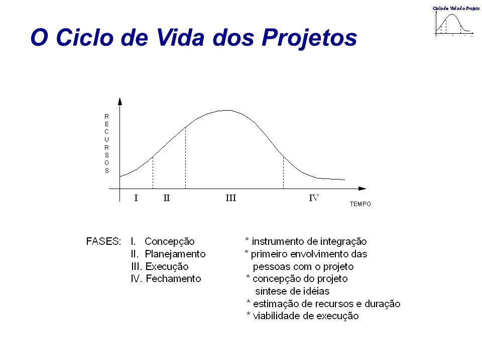 O Ciclo de Vida dos Projetos