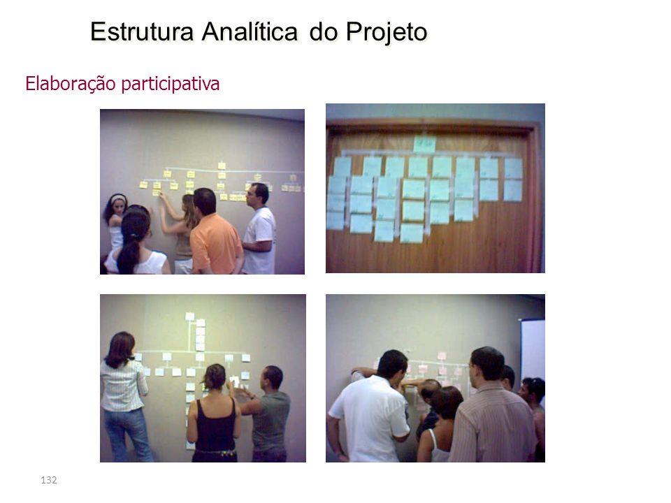 132 Estrutura Analítica do Projeto Elaboração participativa
