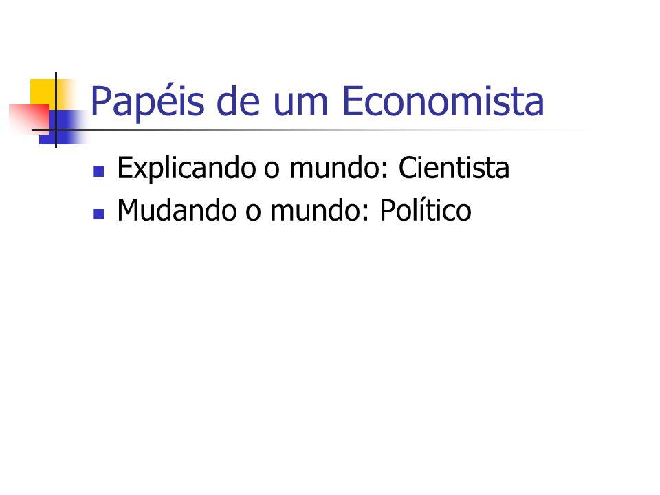 Papéis de um Economista Explicando o mundo: Cientista Mudando o mundo: Político