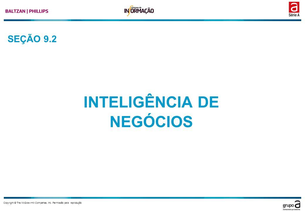 Copyright © The McGraw-Hill Companies, Inc. Permissão para reprodução SEÇÃO 9.2 INTELIGÊNCIA DE NEGÓCIOS