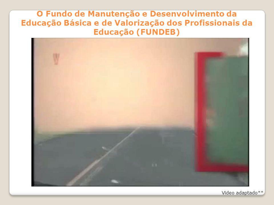 O Fundo de Manutenção e Desenvolvimento da Educação Básica e de Valorização dos Profissionais da Educação (FUNDEB) Vídeo adaptado**