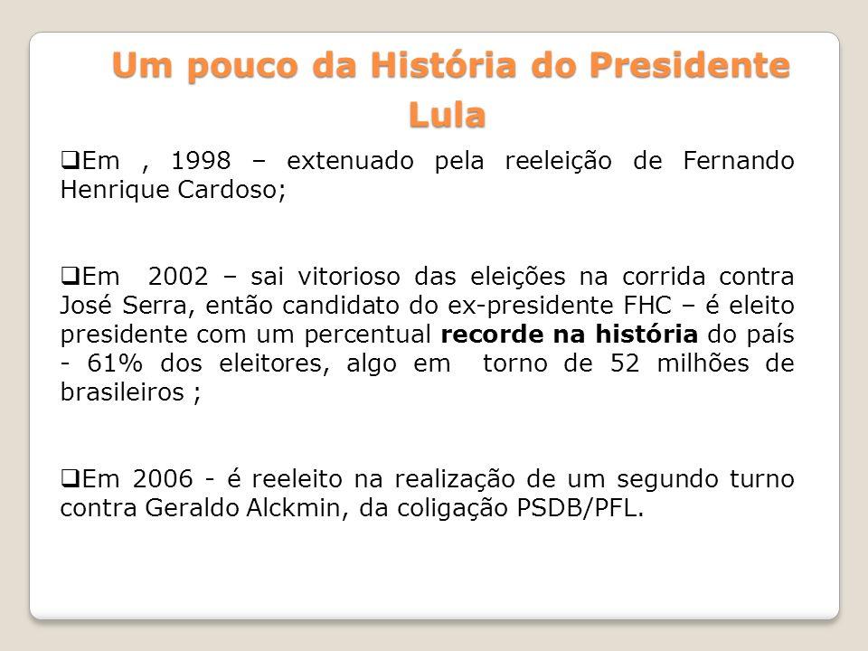 Em, 1998 – extenuado pela reeleição de Fernando Henrique Cardoso; Em 2002 – sai vitorioso das eleições na corrida contra José Serra, então candidato d