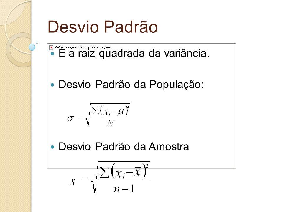 Detecção de pontos fora da curva Para distribuições com forma de sino, consideramos pontos fora da curva aqueles que apresentam z>3, ou seja, que estão distantes da média mais do que 3 desvios padrão.