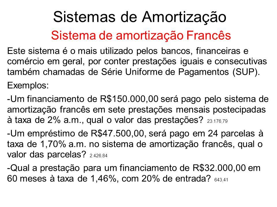 ENTENDENDO O CÁLCULO DE PRESTAÇÔES PELO SISTEMA DE AMORTIZAÇÃO FRANÇÊS.