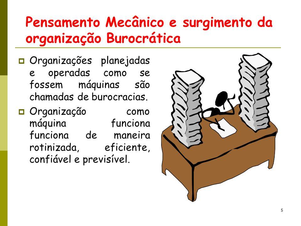 6 As Origens da Organização Mecanicista (1) Organização Organon (grego) significa ferramenta ou instrumento.