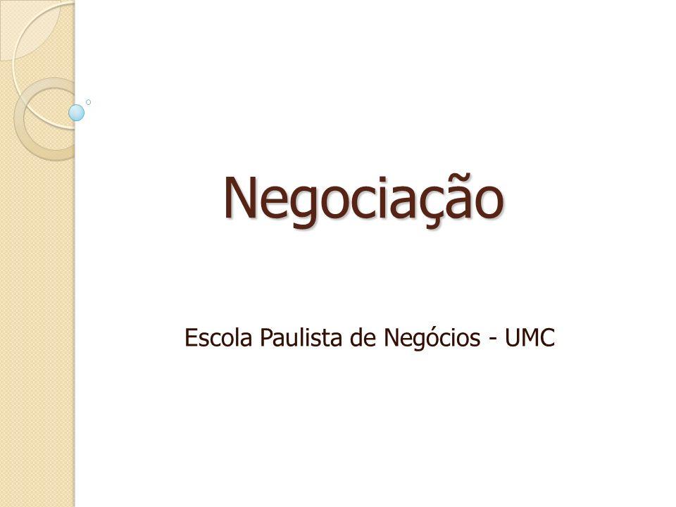 Negociação Escola Paulista de Negócios - UMC