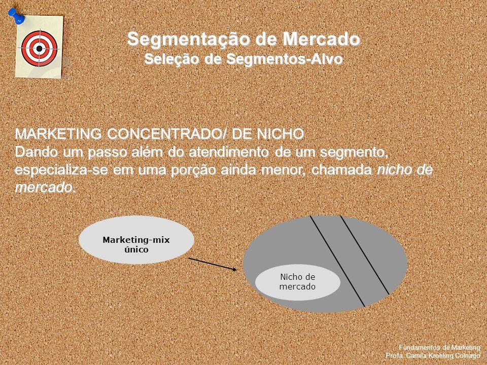Fundamentos de Marketing Profa. Camila Krohling Colnago Fundamentos de Marketing Profa. Camila Krohling Colnago MARKETING CONCENTRADO/ DE NICHO Dando