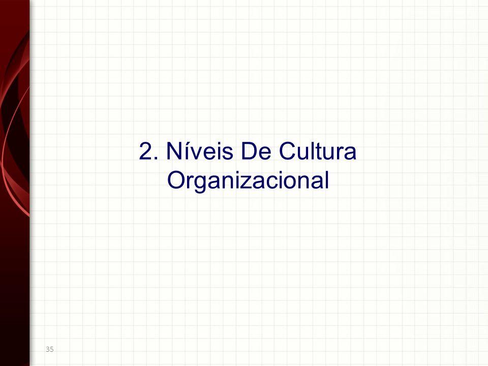 35 2. Níveis De Cultura Organizacional