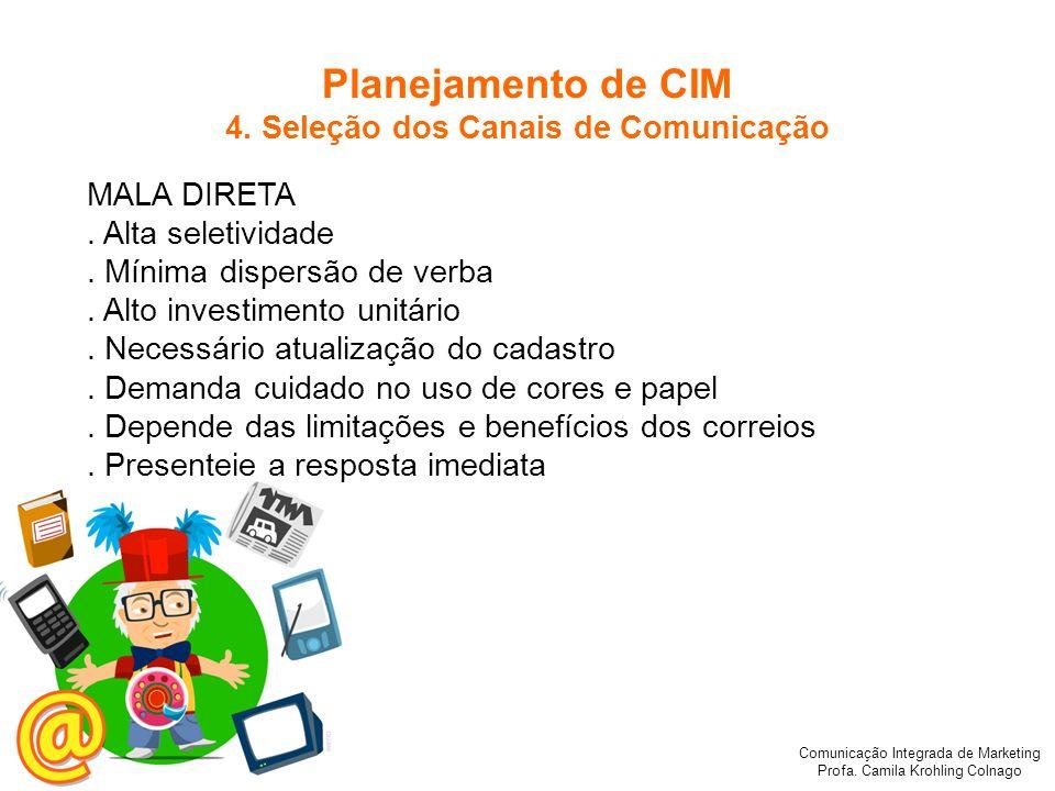 Comunicação Integrada de Marketing Profa.Camila Krohling Colnago MALA DIRETA.