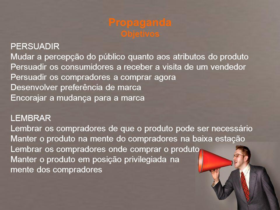 Comunicação Integrada de Marketing Profa. Camila Krohling Colnago PERSUADIR Mudar a percepção do público quanto aos atributos do produto Persuadir os