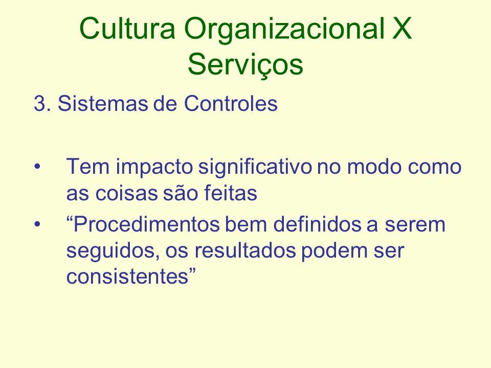 Cultura Organizacional X Serviços 3.