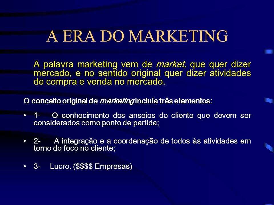 VENDAS X MARKETING DIFERENÇASVENDASMARKETING FOCONo Produto/ServiçoNo Cliente AÇÃODef. Produto/Serviço e, depois, como vendê-lo A demanda do mercado é