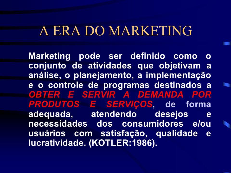 A ERA DO MARKETING A palavra marketing vem de market, que quer dizer mercado, e no sentido original quer dizer atividades de compra e venda no mercado