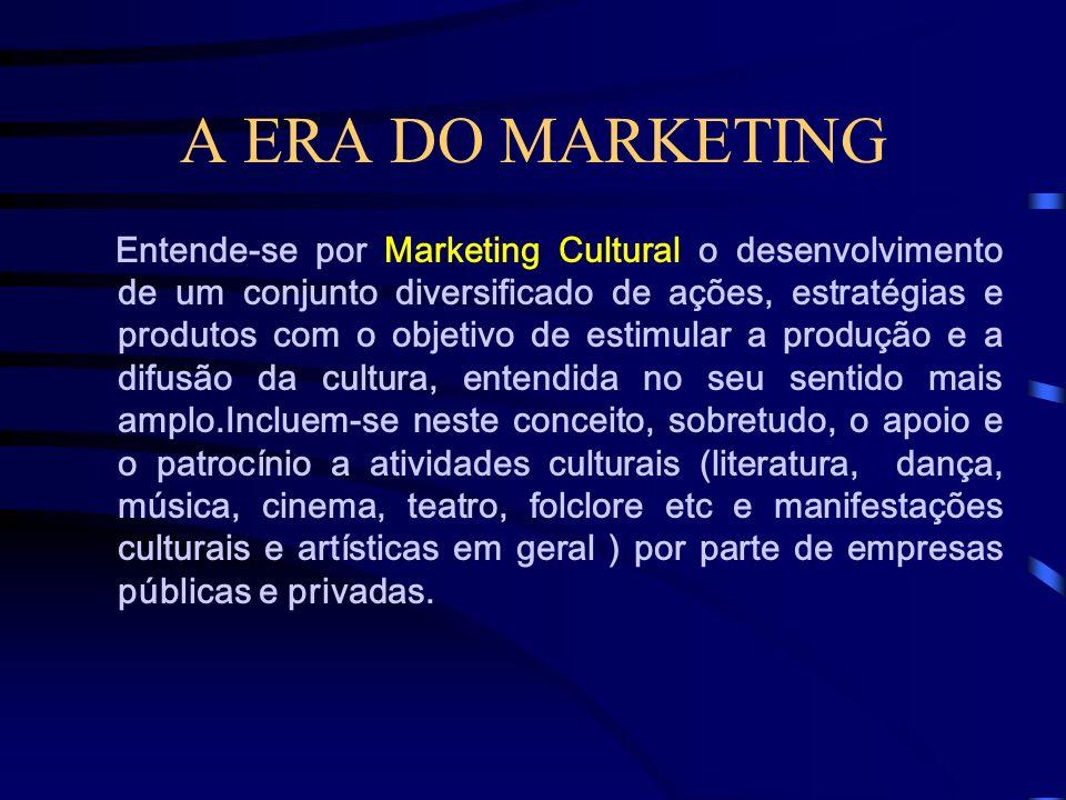 A ERA DO MARKETING O Marketing Social ou Marketing para Causas Sociais, como costuma também ser denominado em outros países, diz respeito ao esforço m