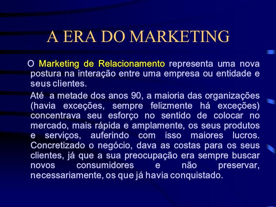 A ERA DO MARKETING Entende-se por Marketing Cultural o desenvolvimento de um conjunto diversificado de ações, estratégias e produtos com o objetivo de