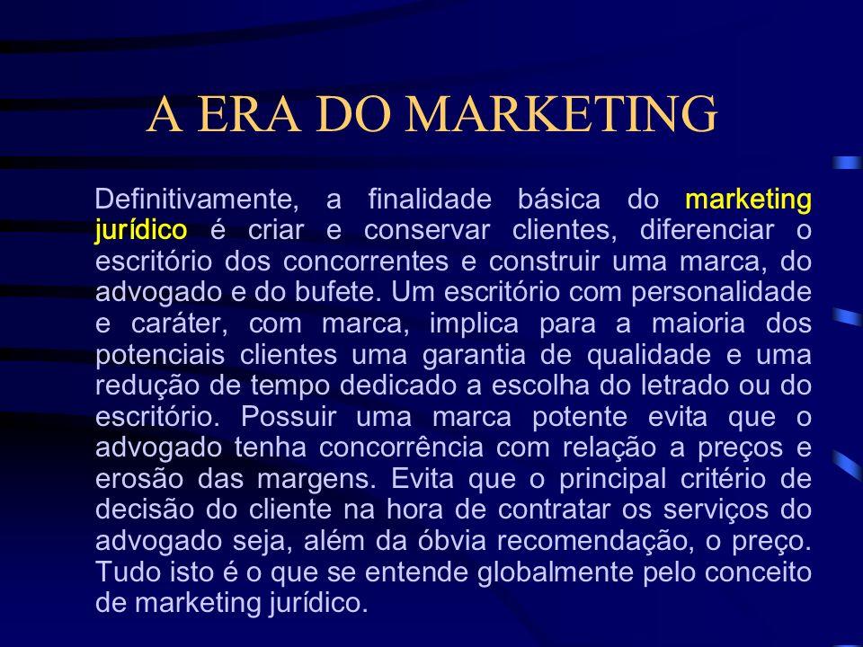 A ERA DO MARKETING O Marketing Esportivo compreende ações voltadas para a prática e a divulgação de modalidades esportivas, clubes ou associações, sej