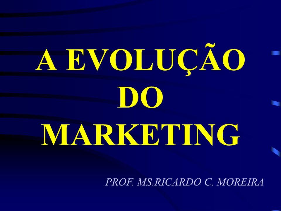 A EVOLUÇÃO DO MARKETING Era do marketing – 1980 Em 1982, o livro Em Busca da Excelência , de Tom Peters e Bob Waterman inaugurou a era dos gurus de marketing.