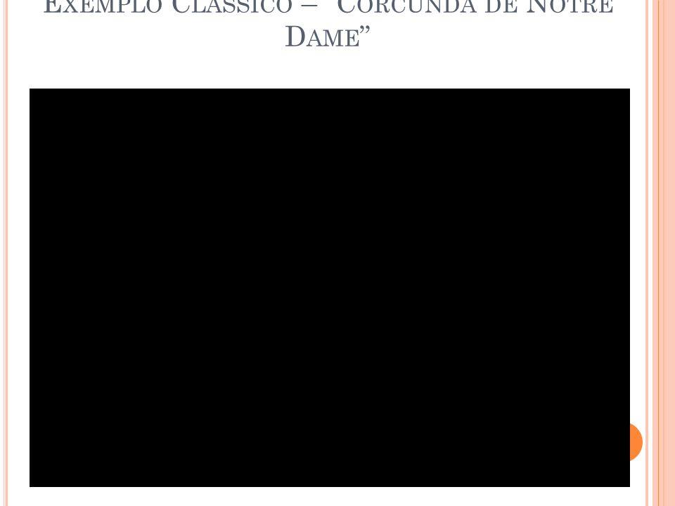 E XEMPLO C LÁSSICO – C ORCUNDA DE N OTRE D AME