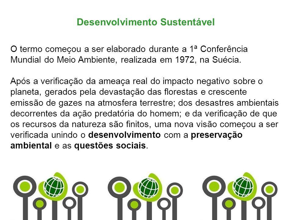 Marketing de Serviços Profa. Camila Krohling Colnago Desenvolvimento Sustentável O termo começou a ser elaborado durante a 1ª Conferência Mundial do M