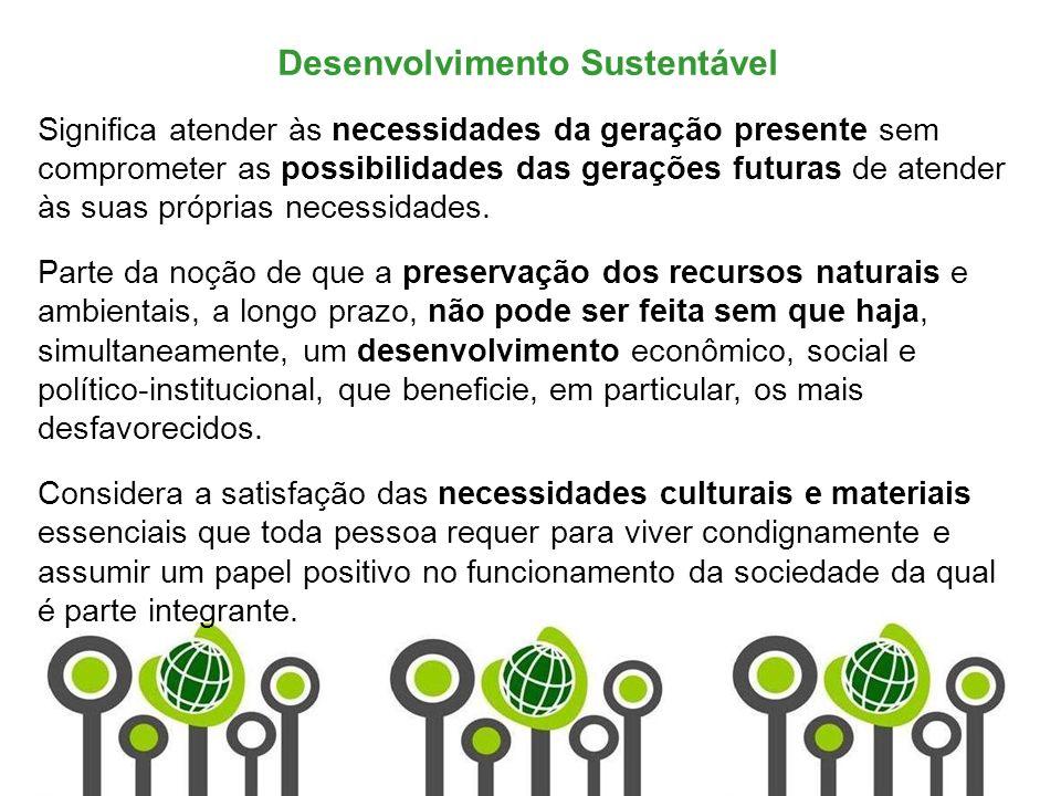 Marketing de Serviços Profa. Camila Krohling Colnago Desenvolvimento Sustentável Significa atender às necessidades da geração presente sem comprometer