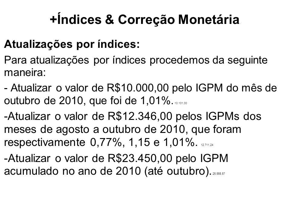 +Índices & Correção Monetária.