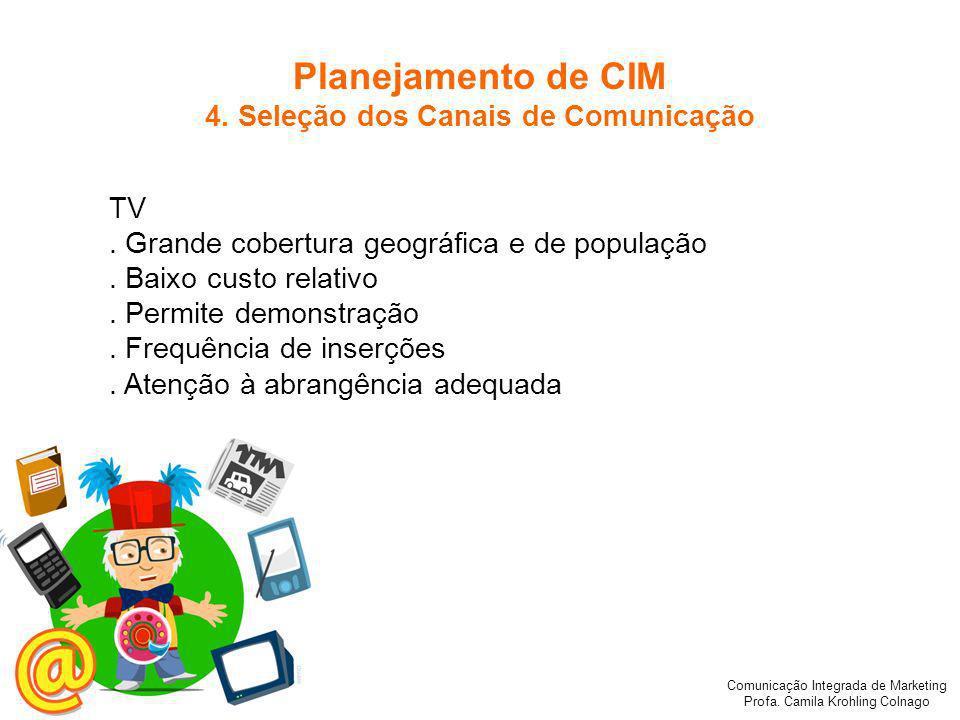 Comunicação Integrada de Marketing Profa.Camila Krohling Colnago RÁDIO.